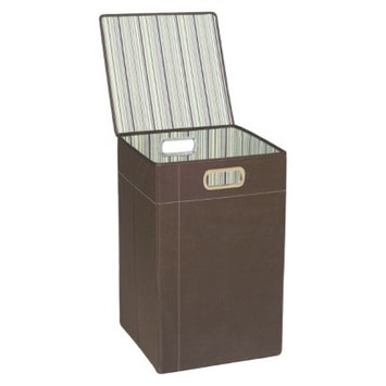 JJ Cole Hamper - Cocoa Stripe