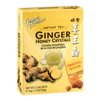 Prince of Peace Ginger Honey Crystals Instant Tea Sachets Original Flavor - 5 CT