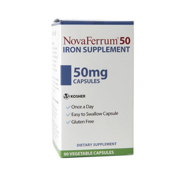 NovaFerrum 50, Iron Supplement, Vegetable Capsules, 90 ea
