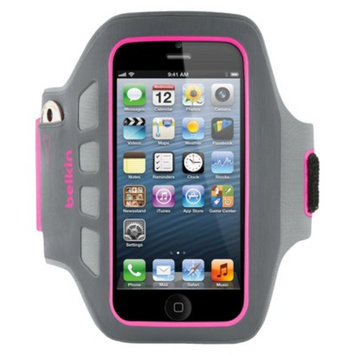Belkin Dayglo Easefit Plus Armband for iPhone5 - Gray/Pink