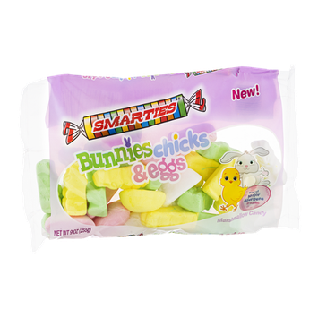 Smarties Bunnies Chicks & Eggs Marshmallow Candy