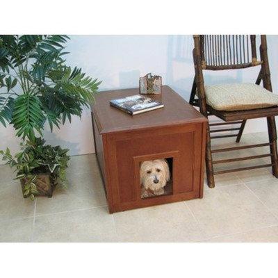Crown Pet Products Doggie Den Cabinet Indoor Dog house Mahogany Finish