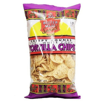Better Made crispy rounds, 100% white corn tortilla chips, 13-oz. bag
