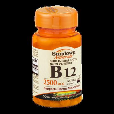 Sundown Naturals B12 2500mcg Microlozenges - 50 CT