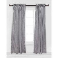 Bacati Dots/Pin Stripes Curtain Panel, Black/White
