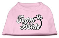 Mirage Pet Products 5177 SMLPK Team Bride Screen Print Shirt Light Pink Sm 10