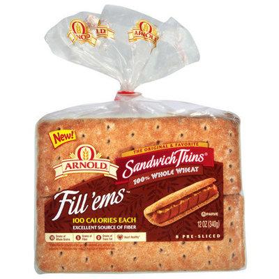 Arnold Fill'ems Pre-Sliced Sandwich Thins, 12 oz, 8ct