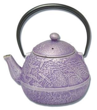 Joyce Chen 19oz. Tamagogato Flower Tetsubin Teapot, Purple