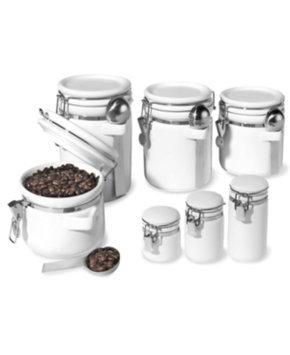 Oggi Ceramic Canister 7-pc. Set - White
