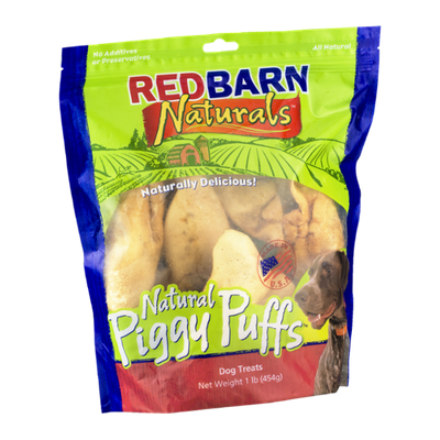 Red Barn Naturals Dog Treats Natural Piggy Puffs