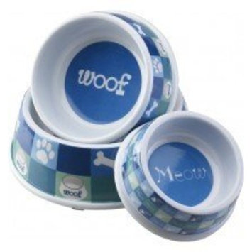 Ethical Pet Products (Spot) DSO6854 Designer Woof Plastic No-Tip Dog Dish, 6-Inch, Blue