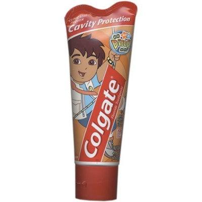 Colgate Fluoride Toothpaste, Diego, mild bubble fruit flavor 4.6 oz (115 g)