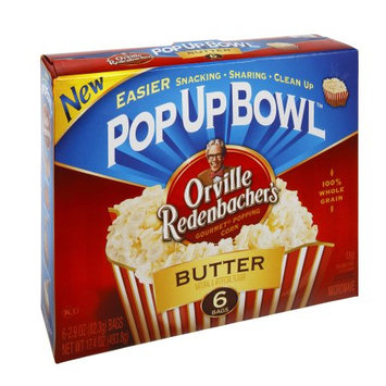 Orville Redenbacher's Pop Up Bowl Butter Microwave Popcorn, 17.4 OZ (Pack of 6)