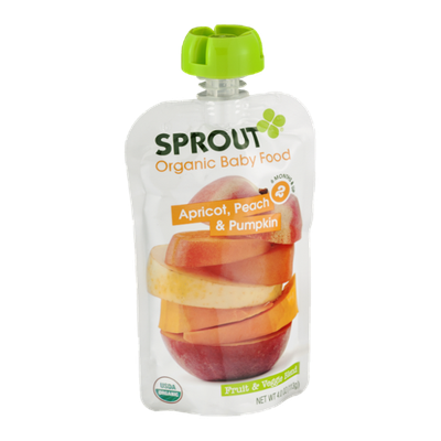 Sprout Organic Baby Food Apricot, Peach & Pumpkin