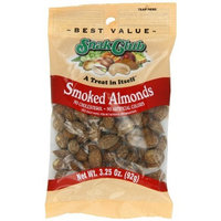 Snak Club Almonds, Smoked, 3.25 Ounce (Pack of 6)