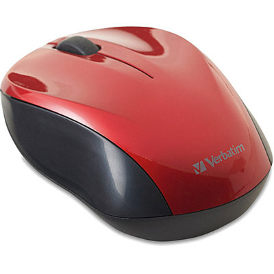 Verbatim/Smartdisk Nano Wireless Optical Mouse, Red
