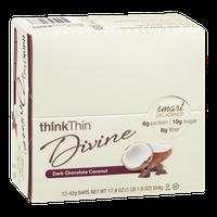 thinkThin Divine Bars Dark Chocolate Coconut