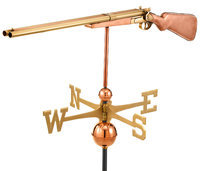 Good Directions 693P Polished Vintage Shotgun Full Size Weathervane