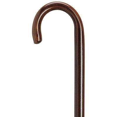 Harvy Unisex Round Nose Crook Cane Ebony -Affordable Gift! Item #DHAR-9003516