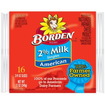 Borden 2% Milk Singles American Cheese Slices