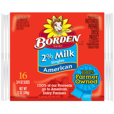 Borden 2% Milk Singles American Cheese Slices