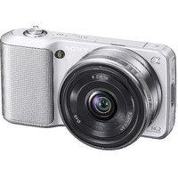 Sony Alpha NEX-3K Silver 14.2MP DSLR Camera, 18-55mm, 3.0