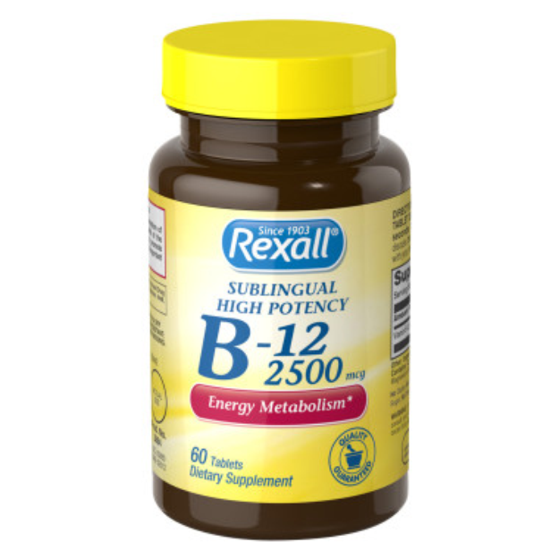 Rexall B12 Sublingual 2500  mcg - Tablets , 60 ct
