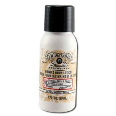 J.R. Watkins Hand and Body Lotion - Coconut and Honey - Case of 20 - 1 oz