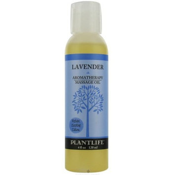 Plantlife Lavender Aromatherapy Massage Oil- 4 oz.