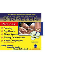 BMS Health Products SNOREBEN (TM) - Stop Snoring and Apnea and Start a Good Night Sleep