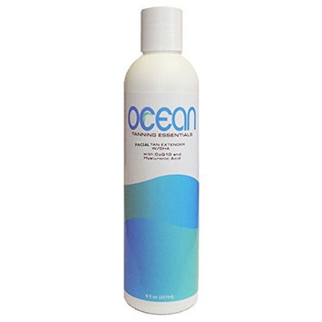 8 oz. Bottle of OCEAN Facial Tan Extender Lotion with DHA to Extend the Life of your Tan