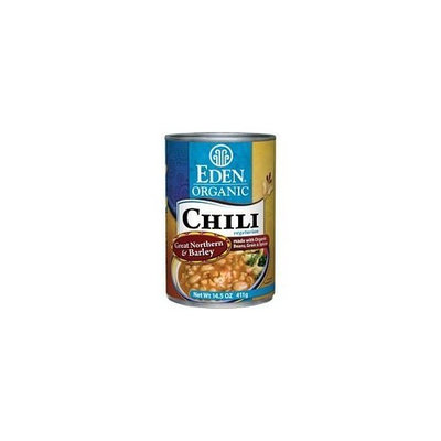 Eden Foods Organic Great Northern Bean and Barley Chili, 14.5 Ounce -- 12 per case.