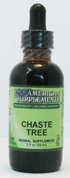 Chaste Tree Berry No Chinese Ingredients American Supplements 2 oz Liquid