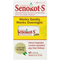 Purdue Products L.P. Senokot-S Natural Vegetable Laxative Ingredient Plus Stool Softener, Tablets, 60 tablets