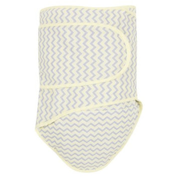 Miracle Blanket Swaddle in Gray, Yellow & White Chevron