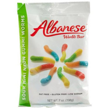 Miles Kimball Albanese Sour Mini Neon Gummi Worms