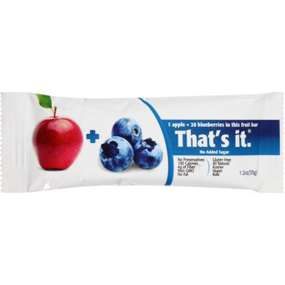 That's It. That's It Apple + Blueberries Fruit Bar, 1.2 oz, (Pack of 12)