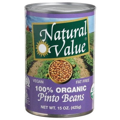 Natural Value Organic Pinto Beans, 15 Ounce Cans (Pack of 12)