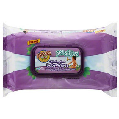 Earths Best Earth's Best Sensitive Chlorine Free Baby Wipes, 64 sheets, (Pack of 12)