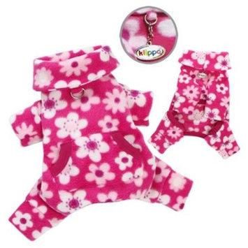 Klippo Pet KBD054MZ Full Blossom Fleece Turtleneck Pajamas & Bodysuit - Medium