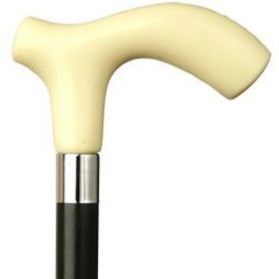 Harvy Men Extra Thick Derby Cane Black Shaft Ivory Handle -Affordable Gift! Item #HAR-9120238