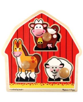 Melissa and Doug Barnyard Animals Jumbo Knob Ages 1+, 1 ea