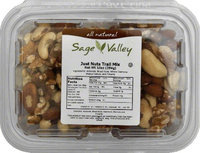 SAGE VALLEY 606381 SAGE VALLEY MIX JUST NUTS - Pack of 6 - 10 OZ