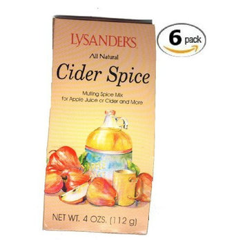 Lysander All Natural Cider Spice-6 Packages