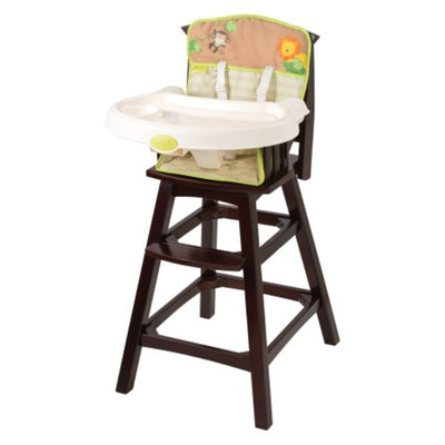 Summer Infant Swingin' Safari Classic Comfort Wood High Chair, Espresso, 1 ea