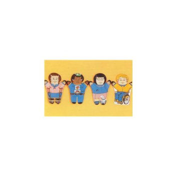 Dexter Educational Toys DEX830W Special Needs 4 Piece Puppet Set - Caucasian