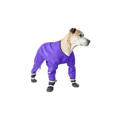 Muttluks 4-Legged Dog Jog Rain Suit, Size 20, Purple