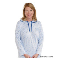 Silvert's Silverts 262010102 Hospital & Home Health Care Night Gown for Womens Blue - 3XL