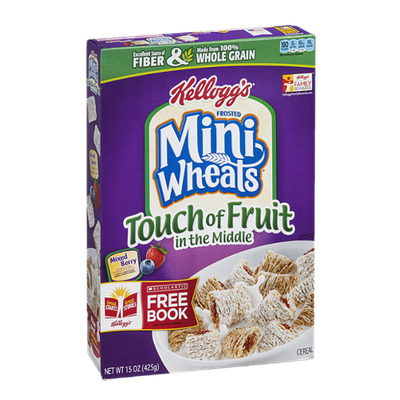 Kellogg's Cereal Frosted Mini Wheats Touch Of Fruit In The Middle