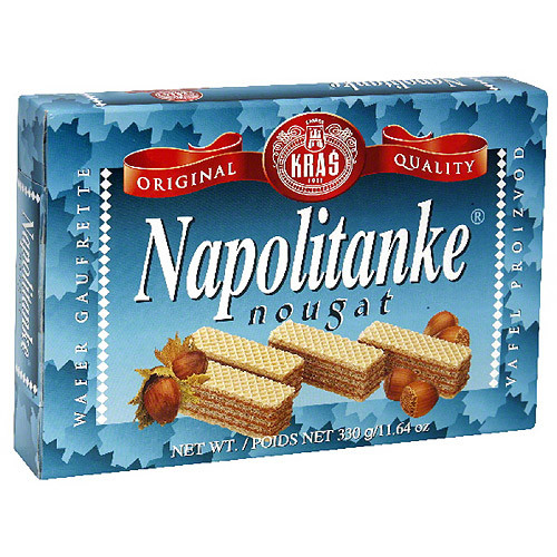 Napolitanke Nougat Wafers, 11.64 oz, (Pack of 12)